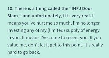 INFJ DOOR SLAM