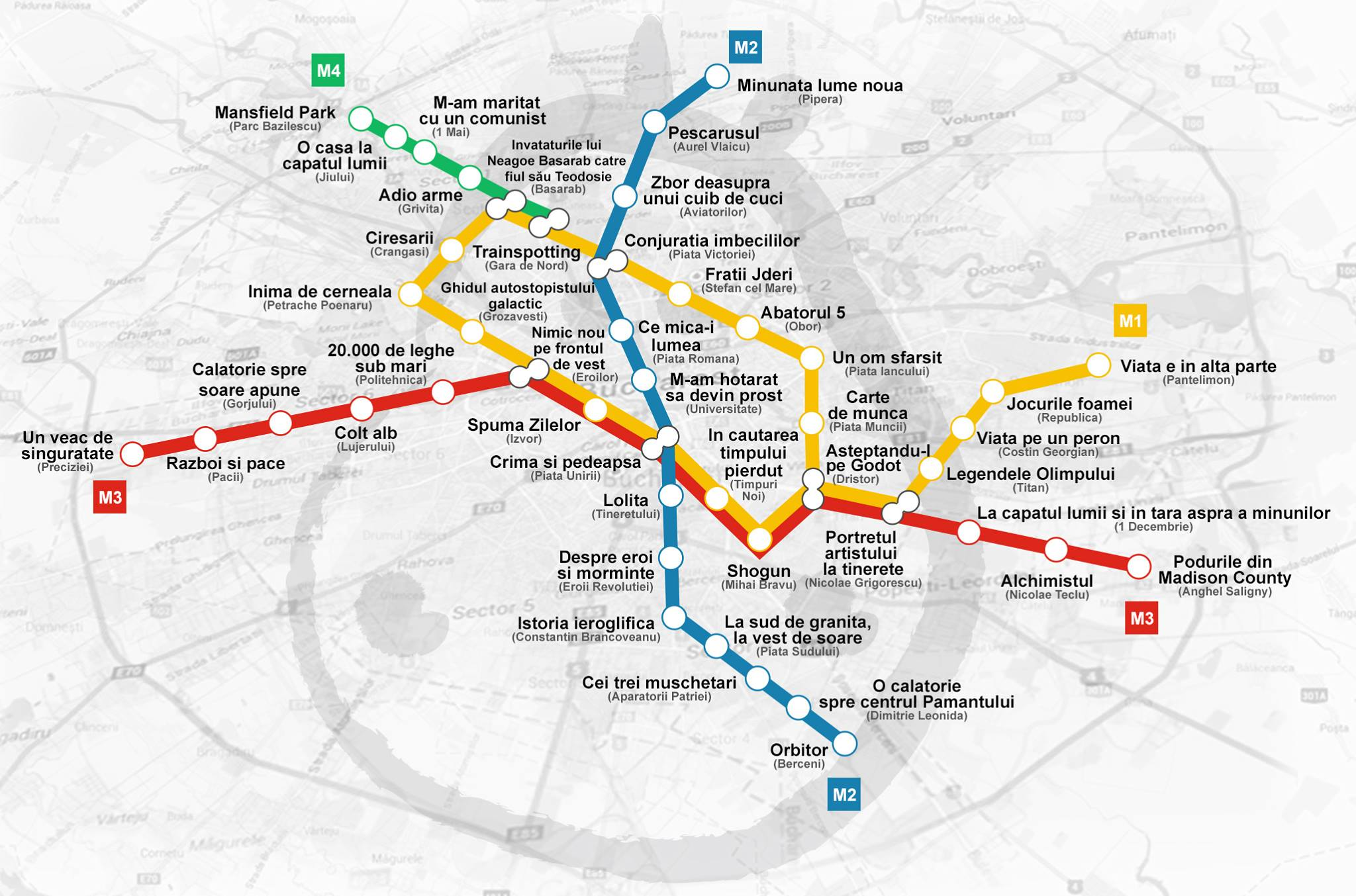 Statii De Metrou Din Bucuresti Cu Nume De Carti Touchofadream