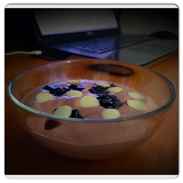 spuma de iaurt cu cacao