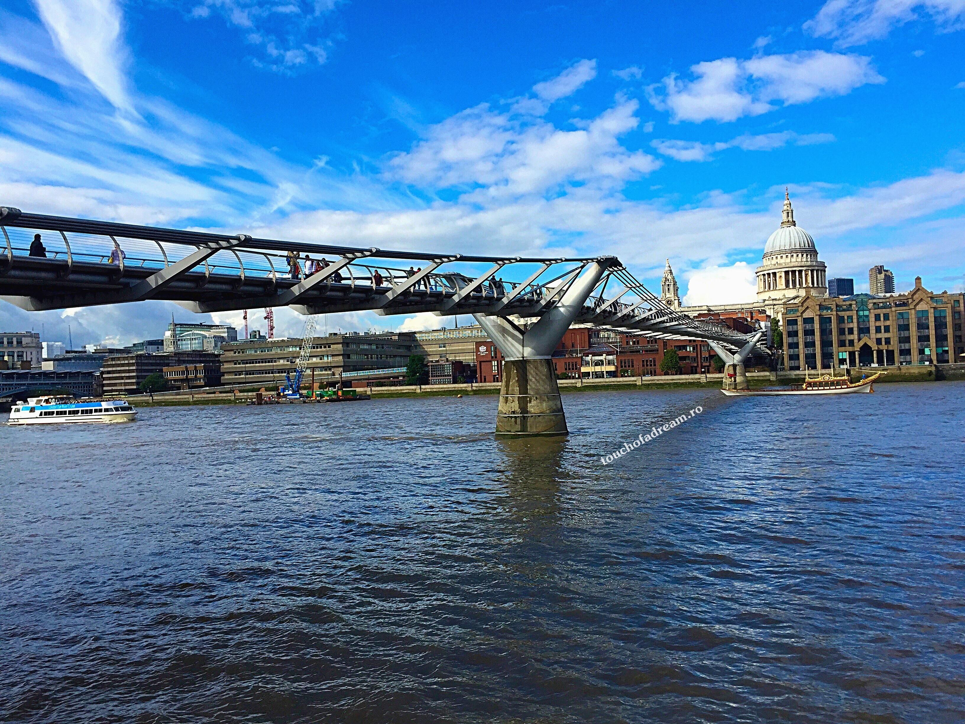 podul millenium tamisa catedrala sfantul paul londra 2015 touchofadream