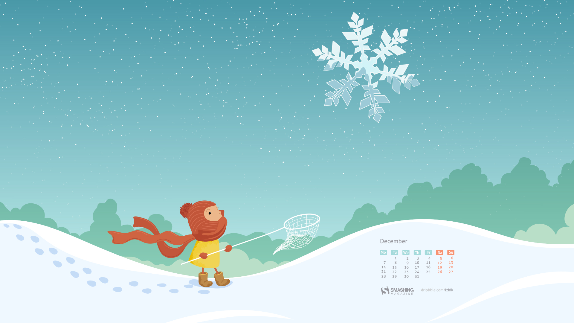 Desktop wallpaper calendar - Decembrie 2015