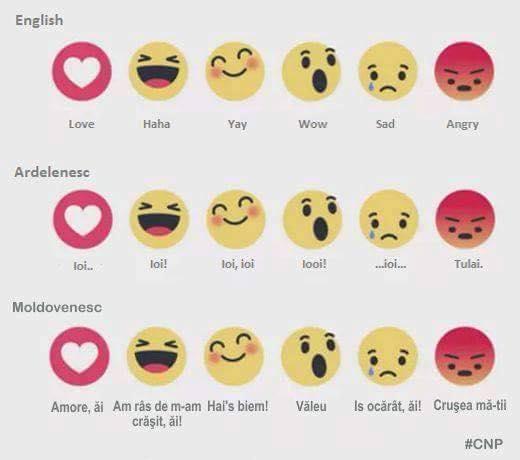 noile butoane emoticoane Facebook 2016
