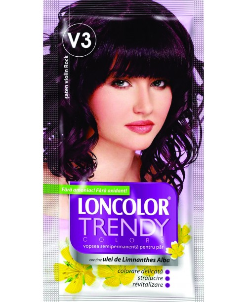 Vopsea De Par Semipermanenta Loncolor Trendy Colors Saten Violin