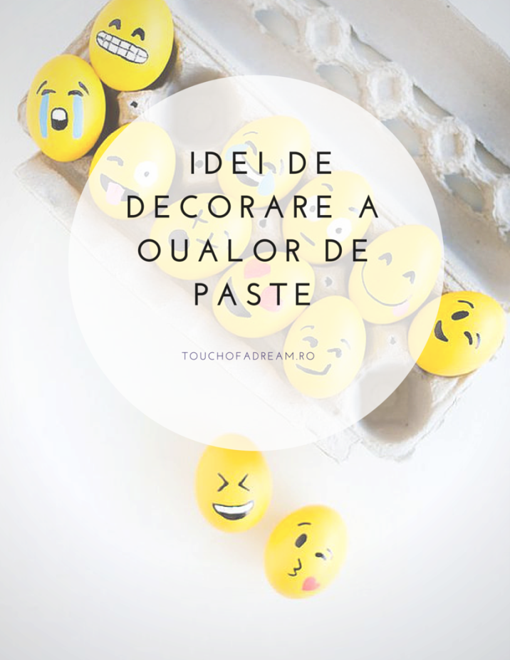 idei de decorarare a oualelor de Paste