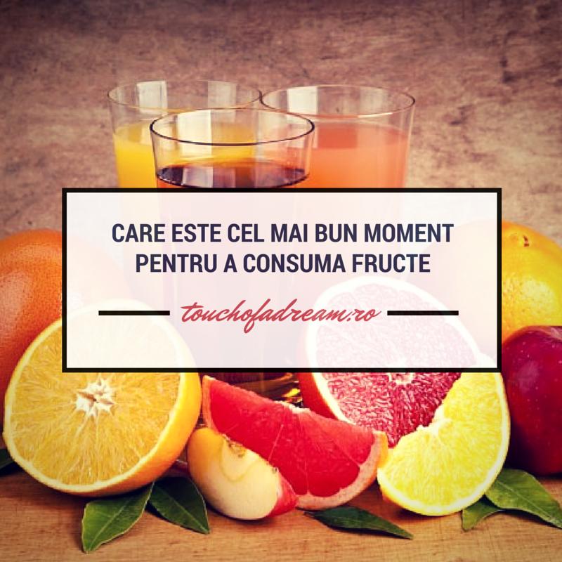 Care este cel mai bun moment pentru a consuma fructe