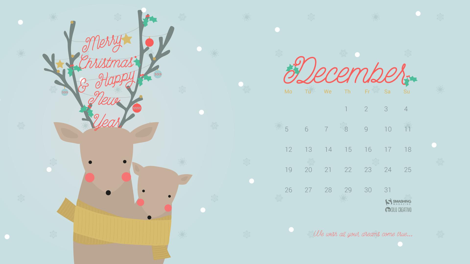 Обои календарь декабрь для рабочего стола