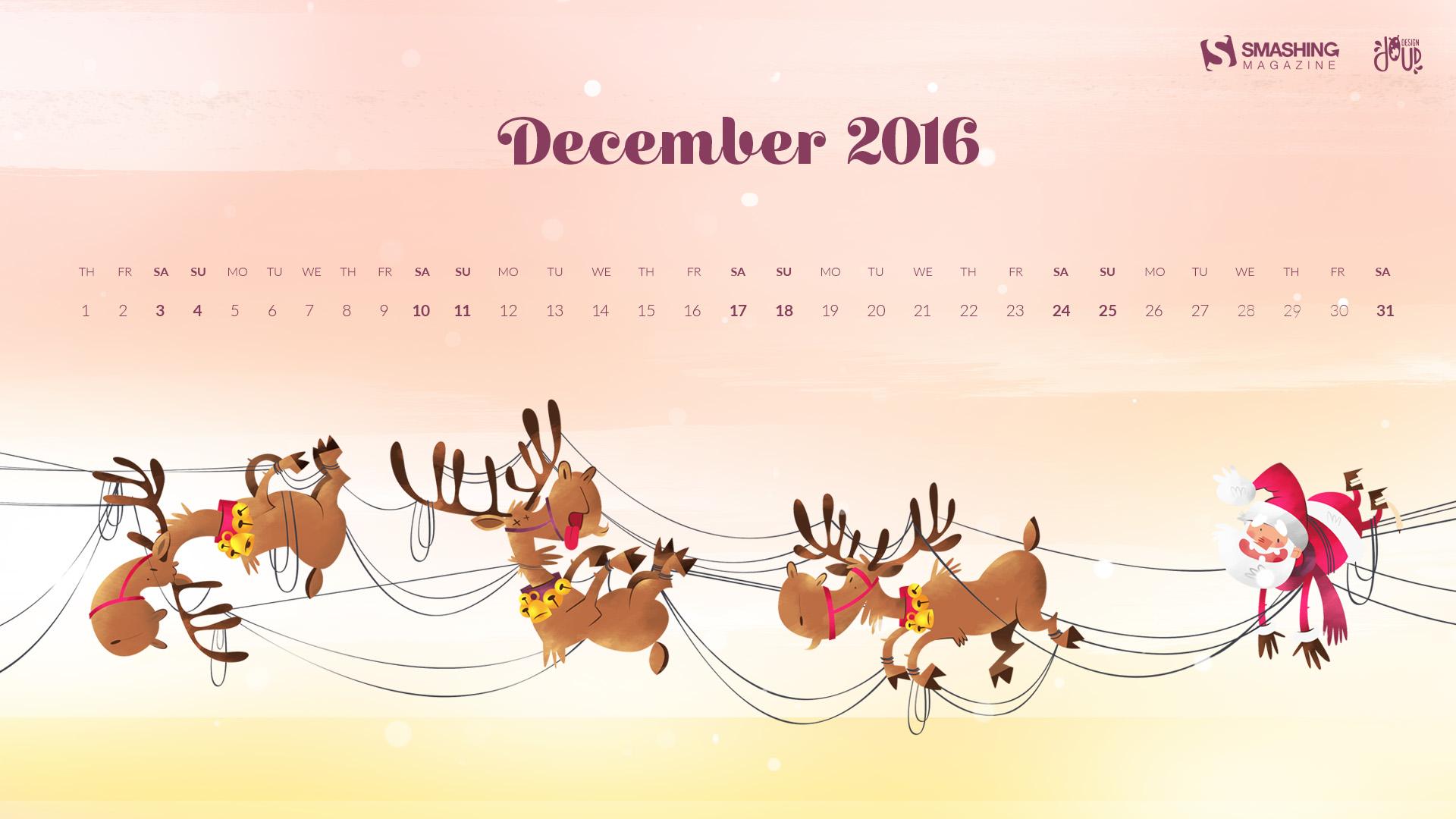 Christmas Calendar Wallpaper : Desktop wallpaper calendar decembrie touchofadream