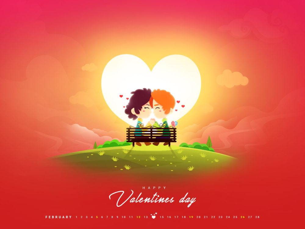 Desktop wallpaper de Valentine's Day 2