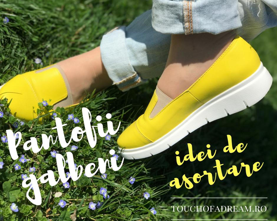 idee de asortare pantofi galbeni