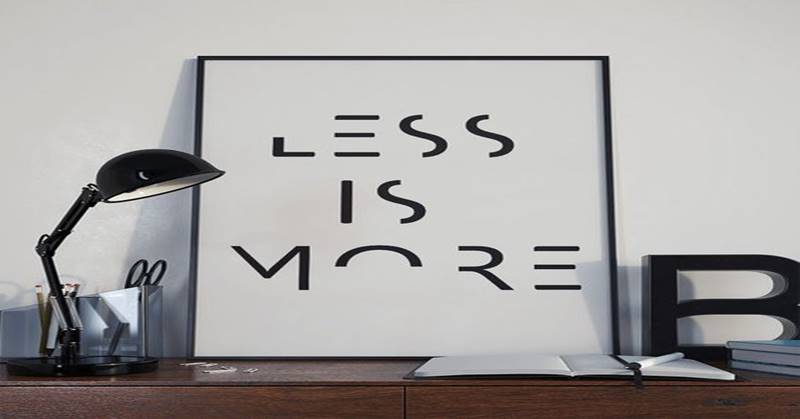 less is more lectie
