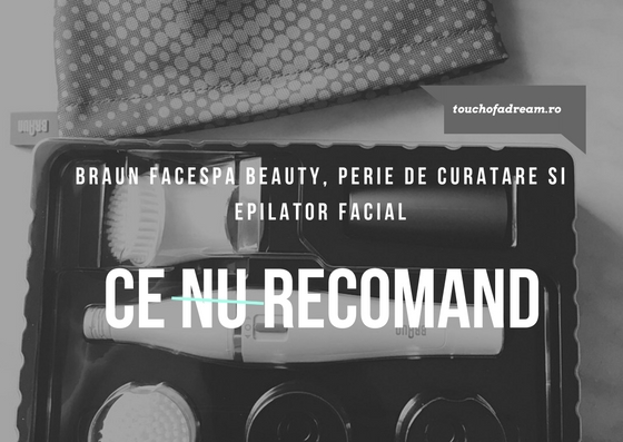 BRAUN FACESPA BEAUTY, PERIE DE CURATARE SI EPILATOR FACIAL