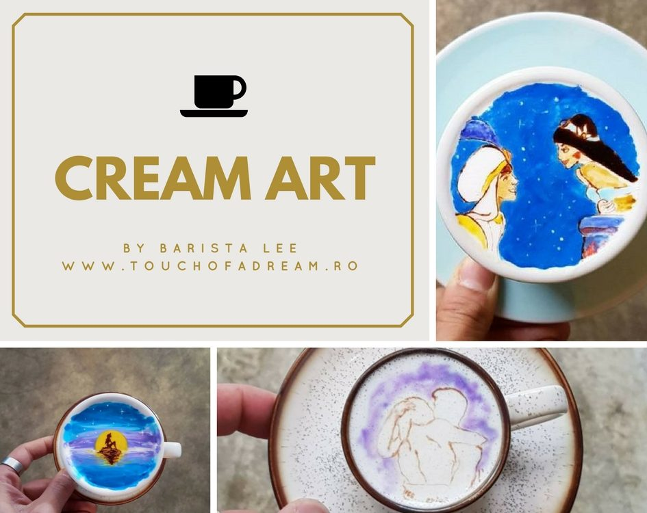 Barista Lee coffee cream art
