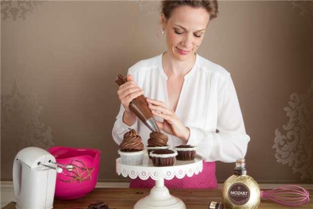 Cupcake cu lichior Mozart Chocolate Cream Liqueur