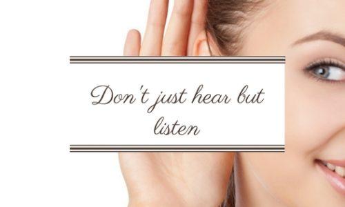 Diferenta dintre a auzi si a asculta.