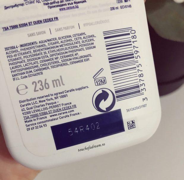 ingrediente gel de curatare hidratant CeraVe